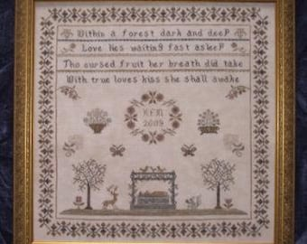 Snow White Sampler Cross Stitch Pattern