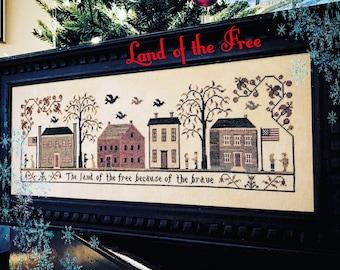 Land of the Free Cross Stitch Pattern - Hard Copy