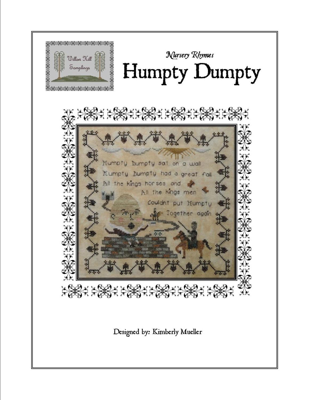 Nursery Rhymes - Humpty Dumpty Cross Stitch Pattern (Hard-Copy)