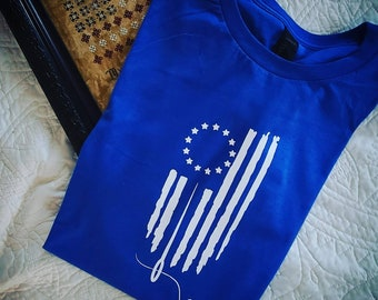 Limited time availability.  4th of July inspired Xstitch Tshirt
