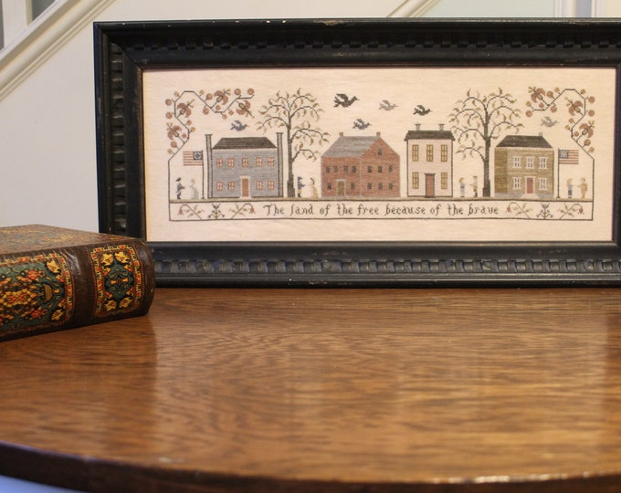 Featured listing image: Land of the Free Cross Stitch Pattern (Hard-copy)