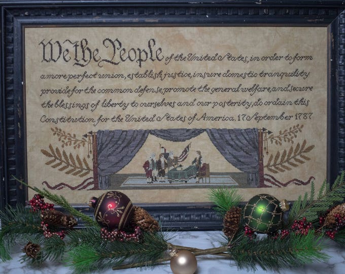 Featured listing image: We the People cross stitch pattern (Hard-copy)