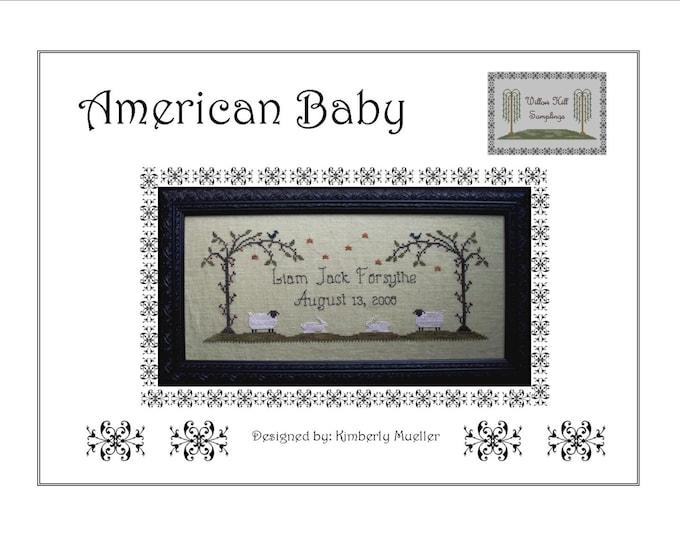 American Baby Cross Stitch Pattern - PDF Digital Download