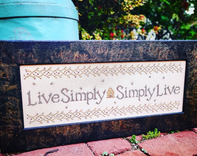 Live Simply Simply Live Cross Stitch Pattern - PDF Digital Download