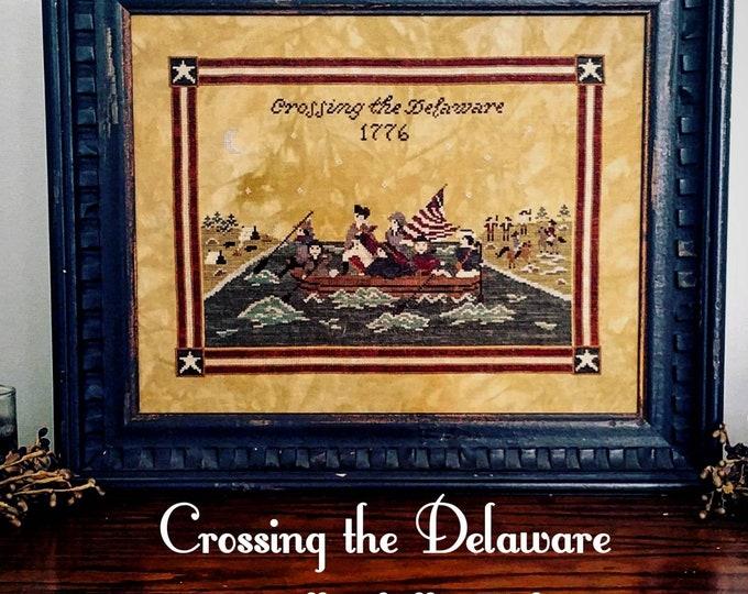 Crossing the Delaware Cross Stitch Sampler  - PDF Digital Download