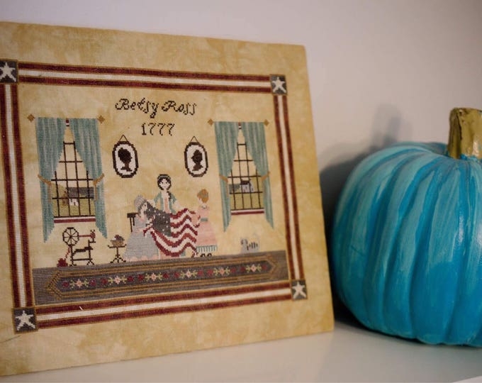 Betsy Ross Cross Stitch Pattern - PDF Digital Download