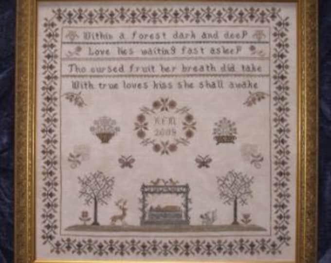 Snow White Sampler Cross Stitch Pattern