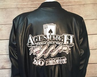 Aces High No Limit Texas Hold Em Poker Bomber Jacket by Steve and Barry's