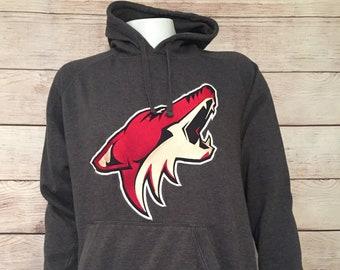 Rare Old Time Hockey Phoenix Coyotes Sweatshirt Hoodie Big logo NHL Phoenix Coyote hockey hoodie