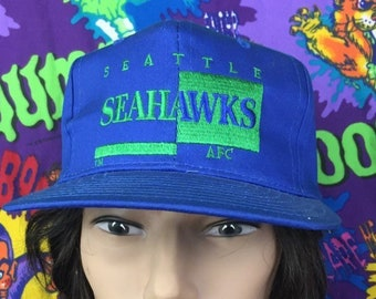 Seattle Seahawks Hat Vintage AJD Signature Hat Seattle Seahawks football  hat vintage snapback hat Seahawks AJD hat nfl hat rare seahawks f79d71752