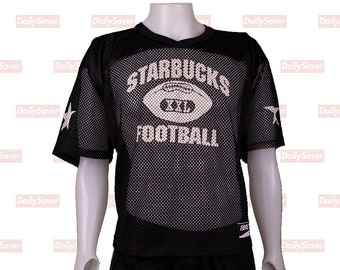 Seattle Starbucks Jersey Rare Vintage Starbucks football Jersey Vintage  Mesh Football Jersey Starbucks coffee jersey Starbucks clothing Rare 136adc6a8b7