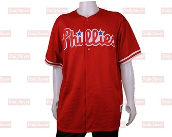 927cdd6dd Philadelphia Phillies Jersey Vintage Phillies Baseball Jersey Rare Majestic  Diamond Collection Jersey (Missing buttons) Vintage baseball