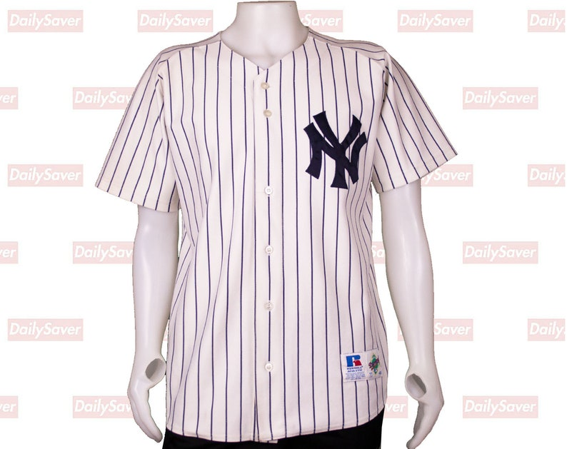 detailed look 9375e 83a41 New York Yankees jersey Rare Authentic Diamond Collection Pinstripe Jersey  By Russel Athletics ny yankees jersey