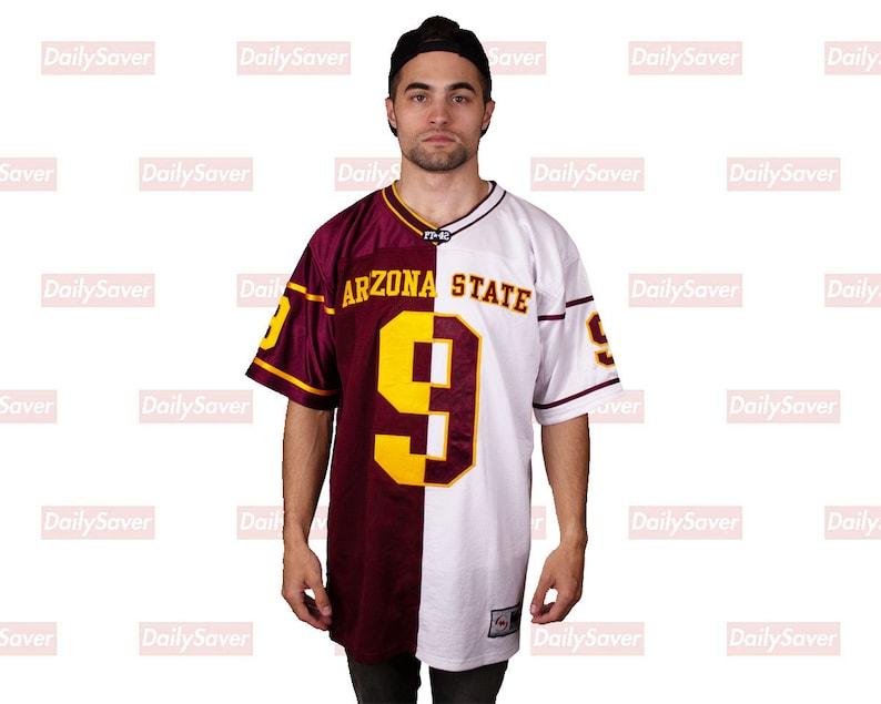 san francisco 0e182 4ddff Arizona State Football Jersey ASU Sun Devils Jersey Rare Vtg Split Home and  Away Football Jersey