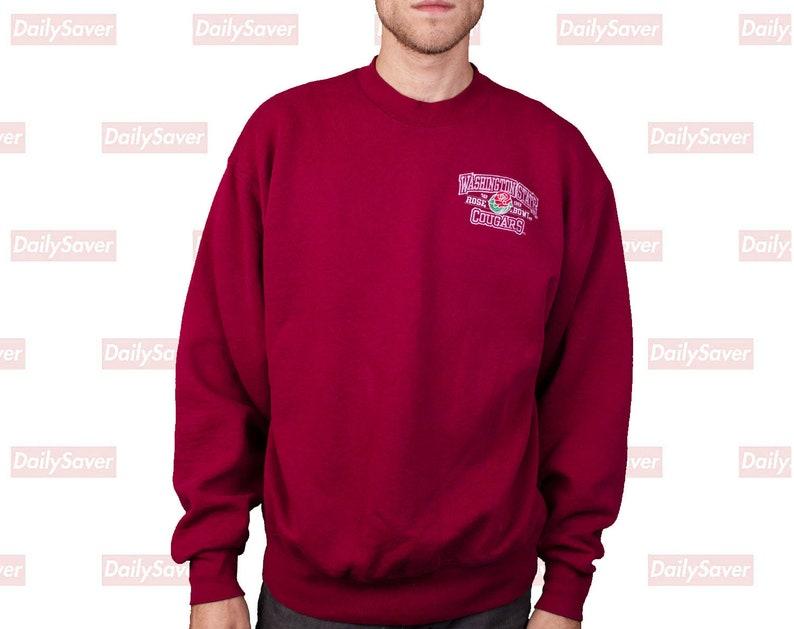 discount sale 4cb00 1d25f Washington State Cougars Crewneck Sweatshirt 1998 Rose Bowl Sweatshirt WSU  Cougars sweatshirt Vintage WSU Vintage Cougars WSU Cougar Jersey