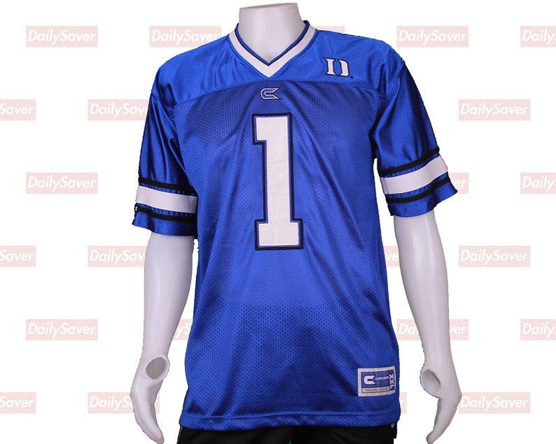 premium selection ef6dd 4995b Duke University Jersey Duke Football jersey Duke Blue devils jersey Duke  Blue Devils Basketball Jersey rare Duke Jersey Blue Devils clothing