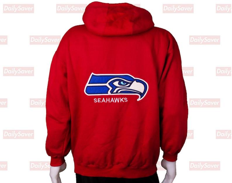 New Seattle Seahawks Fan Hoodie Fleece zip up Coat winter Jacket warm Sweatshirt