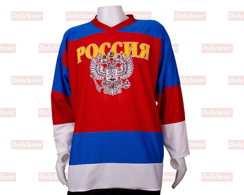 hot sales 02c16 1f3af Vintage Team Russia Hockey Jersey Alexander Ovechkin Jersey Olympic Russia  Ice Hockey Jersey by Fan club vintage mesh hockey jersey Rare