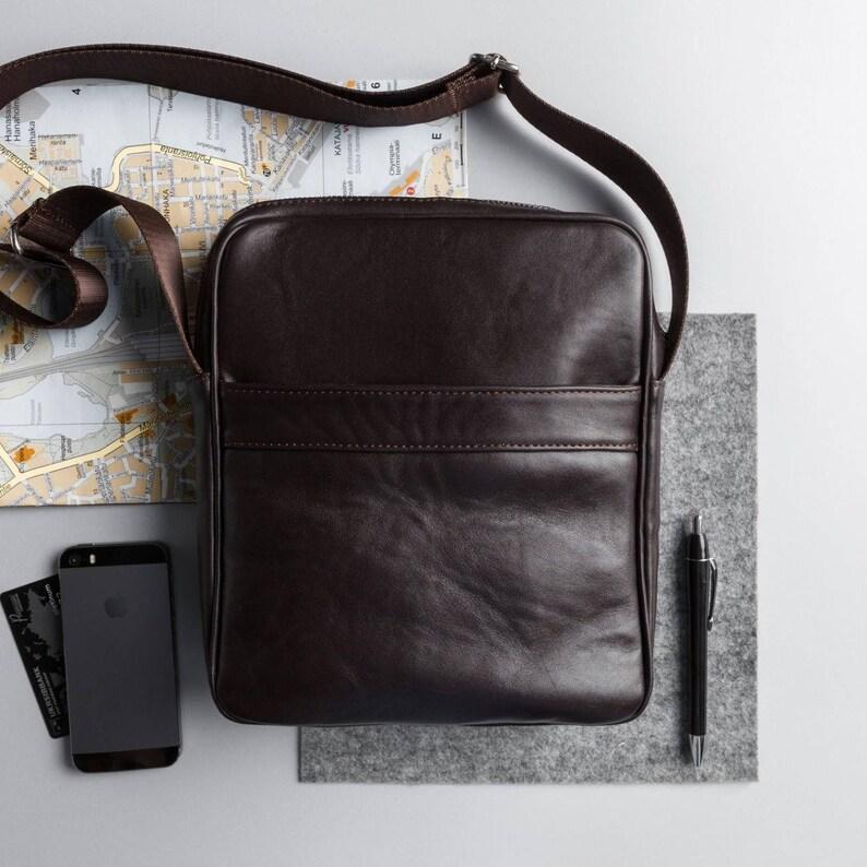 15ac5648c8 Leather messenger bag men leather shoulder bag for men brown