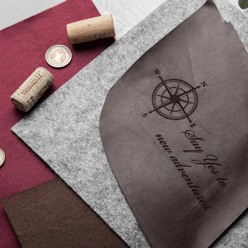 minimalist travel organizer natural leather traveller passport cover Cognac leather slim travel wallet genuine leather passport wallet