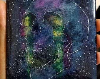 Aurorae - Resin Art + watercolor painting