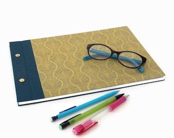 A4 Hardback Journal, Guestbook or Sketchbook:  Bookcloth and Lokta Paper