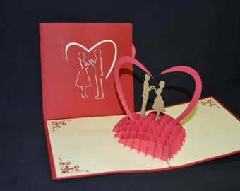 3d Valentine Card Etsy