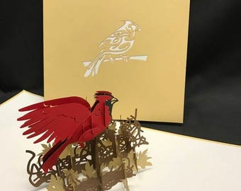 Cardinal 3-d pop up card