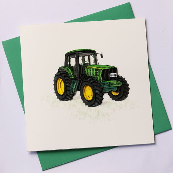 Tractor Quilling Greeting Card Quilling Cards Birthday Etsy