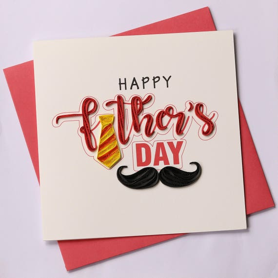 Fathers Day Quilling Greeting Card Cards Birthday