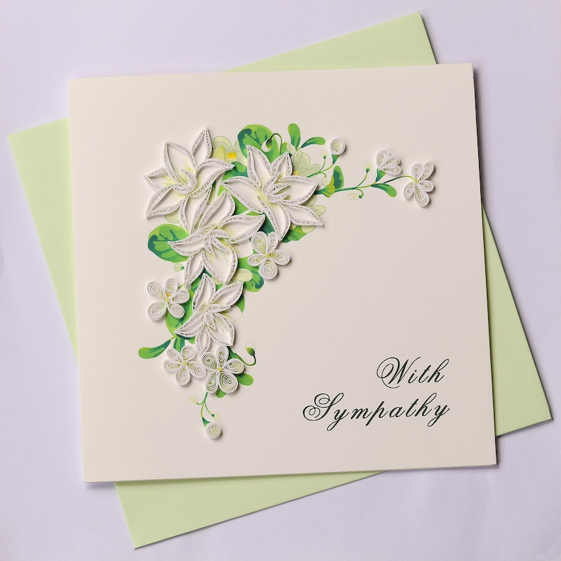 Sympathy Quilling Greeting Card Cards Birthday
