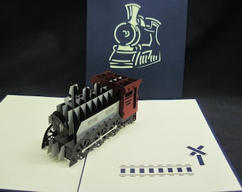 Train 3-d pop up card