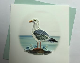 Sea Gull Quilling Greeting Card