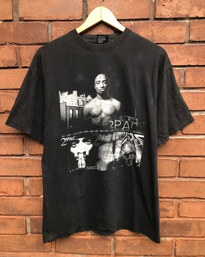 71031546 Vintage 90s Bootleg Tupac Shakur Hip Hop Legendary 90s Rapper | Etsy