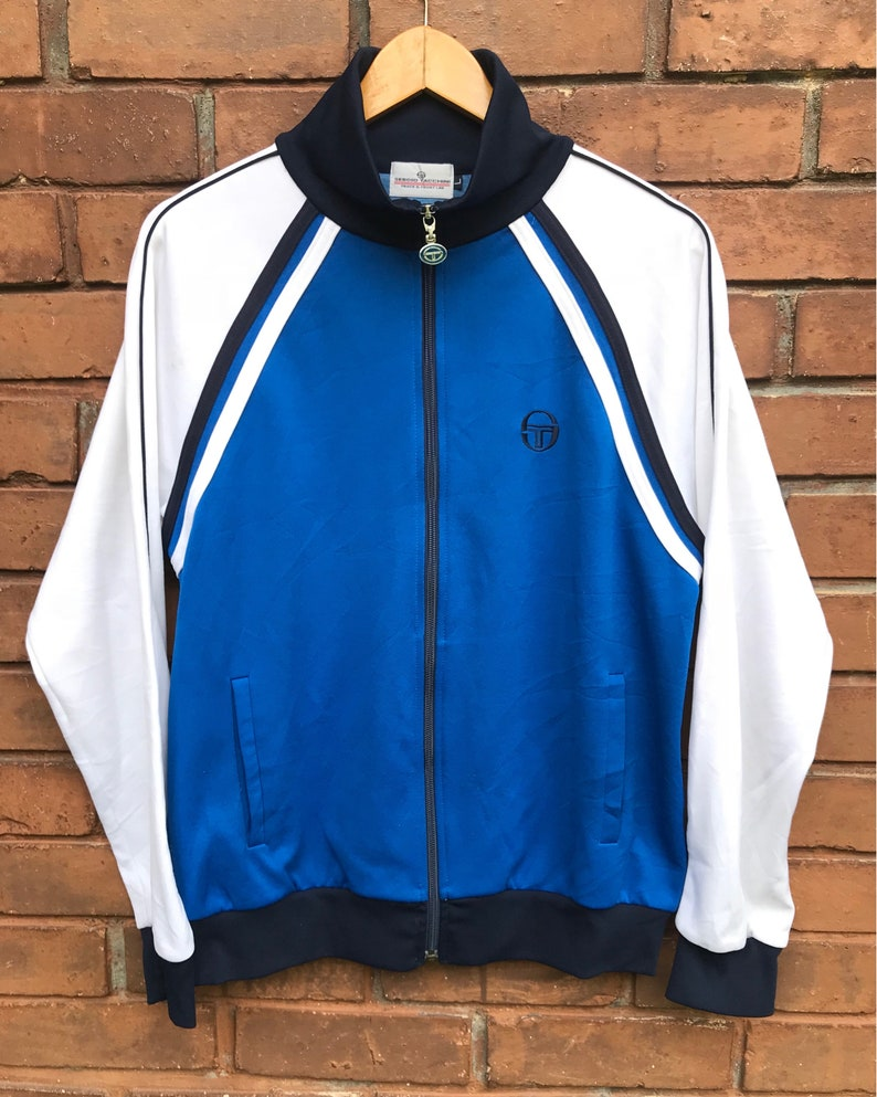 89b7721eec8 Vintage 90s Sergio Tacchini Embroidered Logo Track Tops