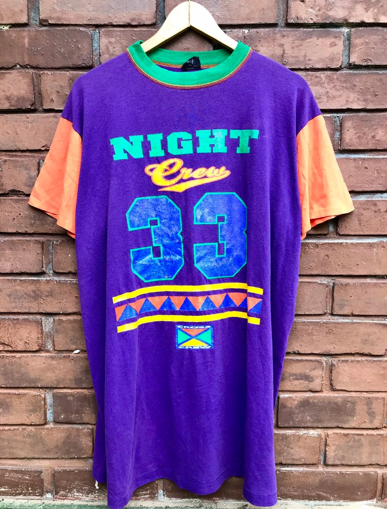 58d1c2a101 Vintage 90s CROSS COLOUR hip hop nation colour block T shirt