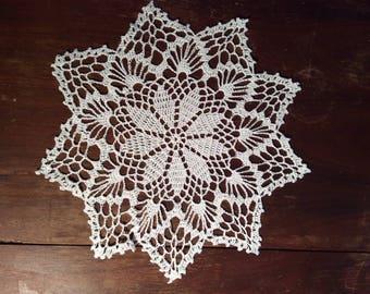 Doily, handmade, round