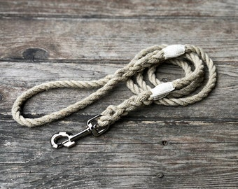 Just Hemp Rope Dog Leash - Nautical Dog Leash, Dog Lead, Strong Dog Leash, Handmade Dog Leash, Pet Leash, Rope Leash