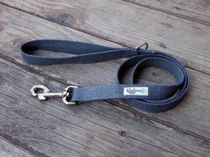 Nautical Dog Leash Handmade Dog Leash Nantucket Blue Just Hemp Flat Dog Leash Strong Dog Leash Dog Lead