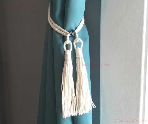 Tassel Hook Curtain Tie Back Square Design x2