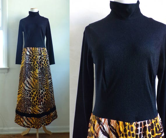 60s animal print dress 1960s maxi dress tiger chee