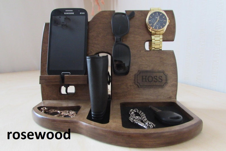 41c4becceba2 Gifts For Men gift Mens Wood Valet Personalized mens valet