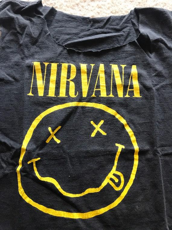 Vintage Original NIRVANA shirt 1992 GIANT copyrigh