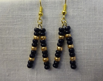 Los Angeles Rams Glass Bead Earrings
