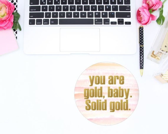 Trendy office decor Minimalist Image Etsy Cute Mousepad Gold Decor Gold Office Decor Pink Office Etsy