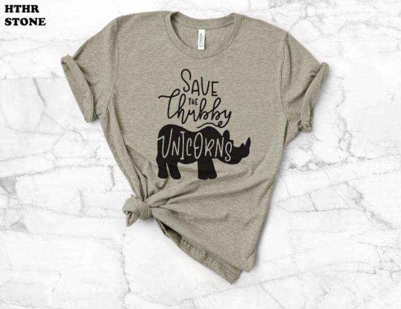 231ec5182 Save The Rhinos Rhino Cause Chubby Unicorn Shirt Unicorn | Etsy