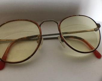 Vtg Round POLO Eyeglasses Bronze Shade Metal POLO CLASSIC Bridge 49 19