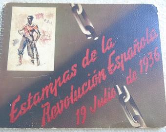 Estampas de la Revolucion Espanola 19 Julio de 1936 Antique Book Spanish Revolution