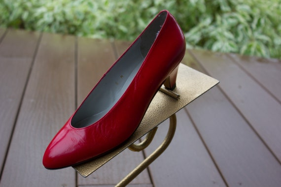Vintage Women's Red Pappagallo Shoes Heels Pumps N