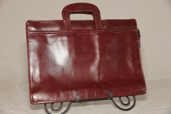 Vintage 80/'s Danier leather attache case Danier leather briefcase